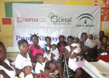 Imagen de intervención en 2010 en Haití
