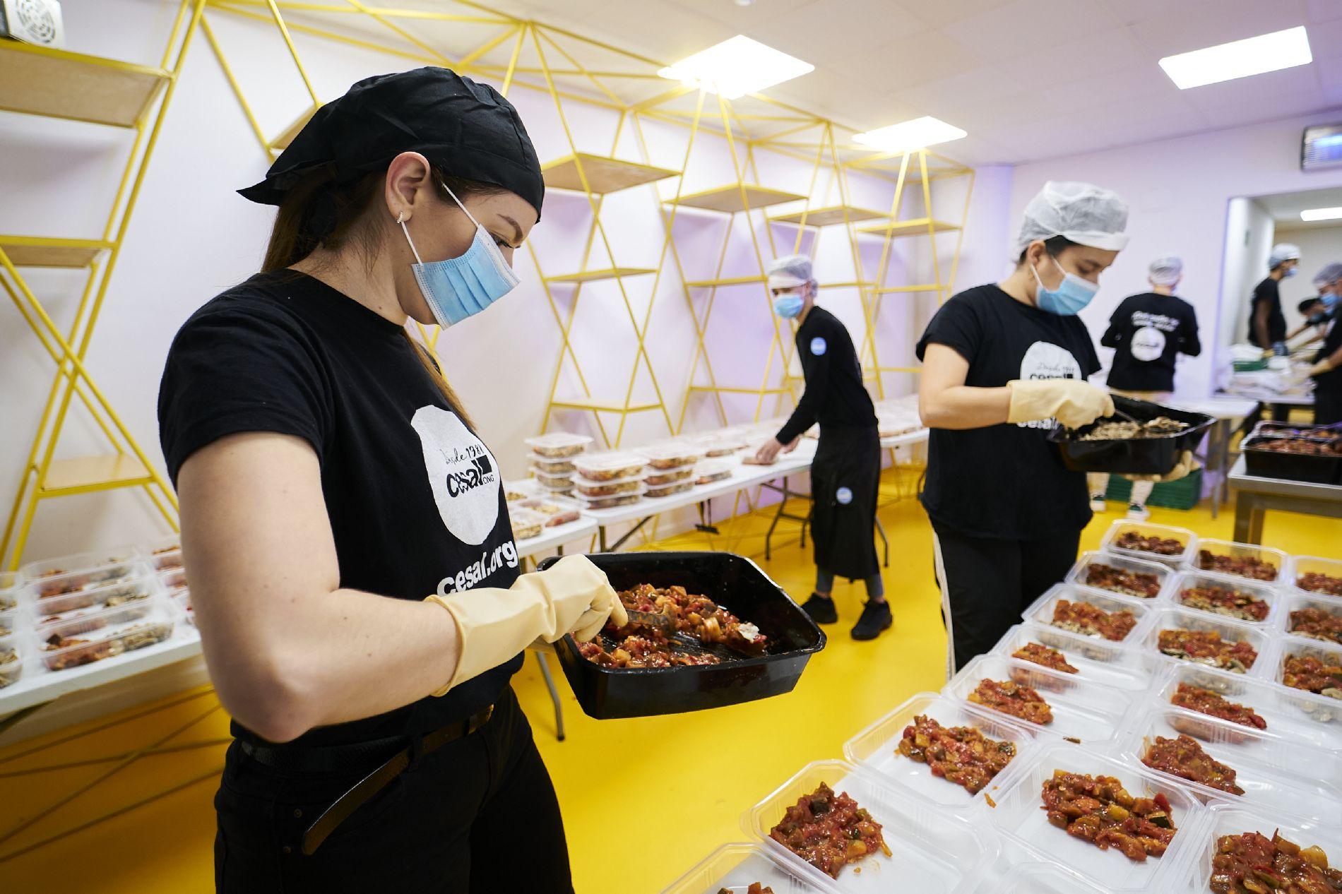 ONG CESAL cocina en Villaverde