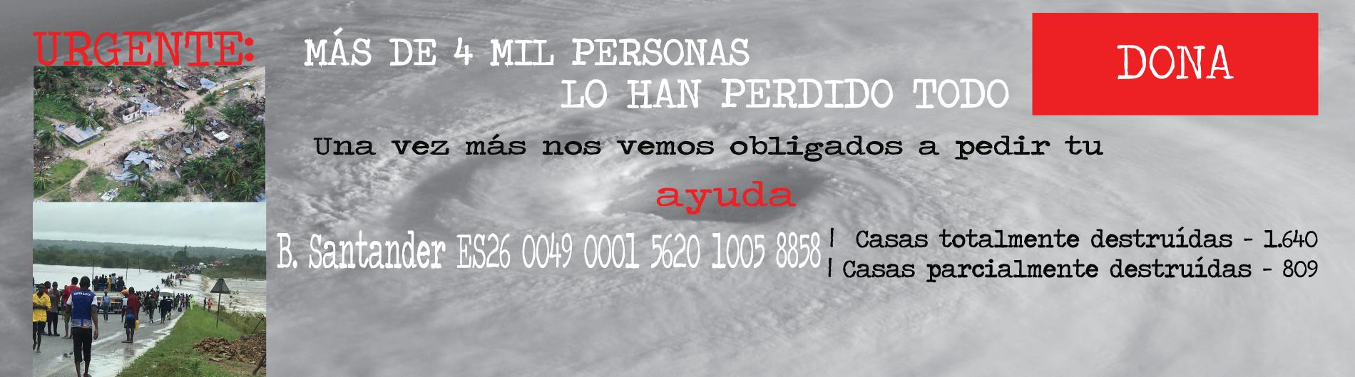 emergencia mozambique ciclón kenneth solidaridad