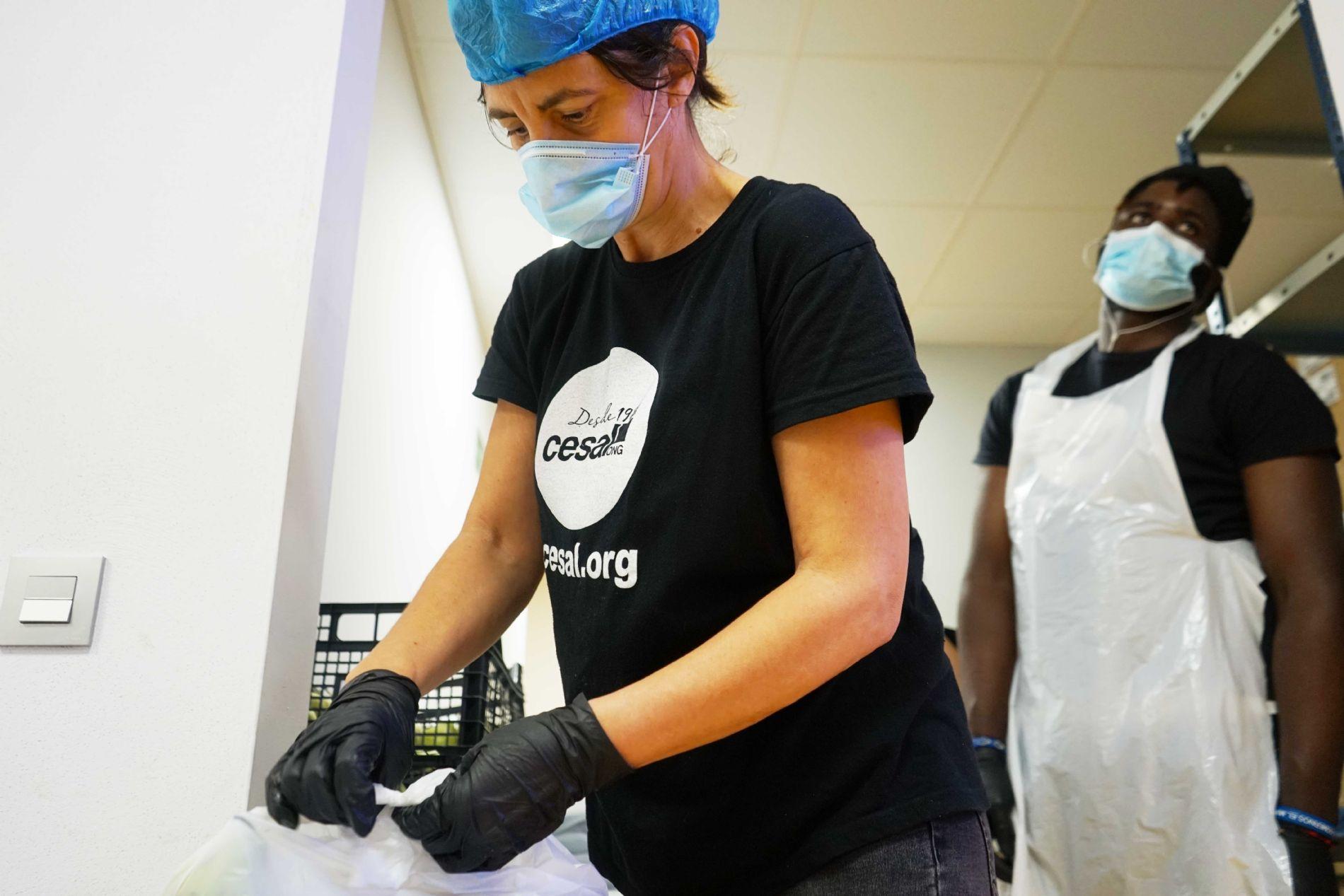 coronavirus; emergencia; salud; CESAL; dona; voluntariado Gastrolab Villaverde Madrid