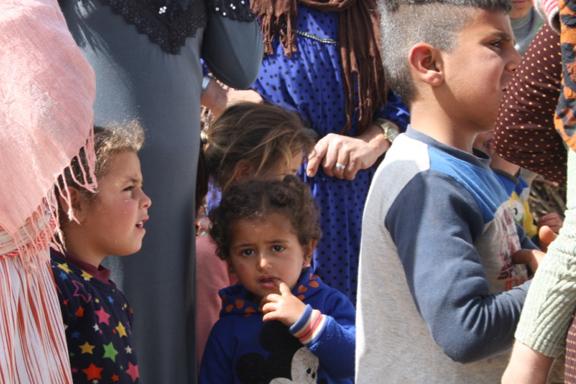 Niños y niñas refugiadas en Marjayoun