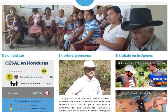 Foto de la nueva Web de CESAL