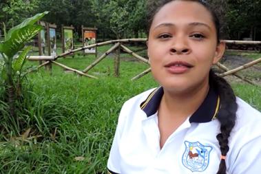 imagen en primer plano de Kenia Jackeline Joaquín Durán de Primer año general del Complejo Educativo Marisol Bolaños de Rivas