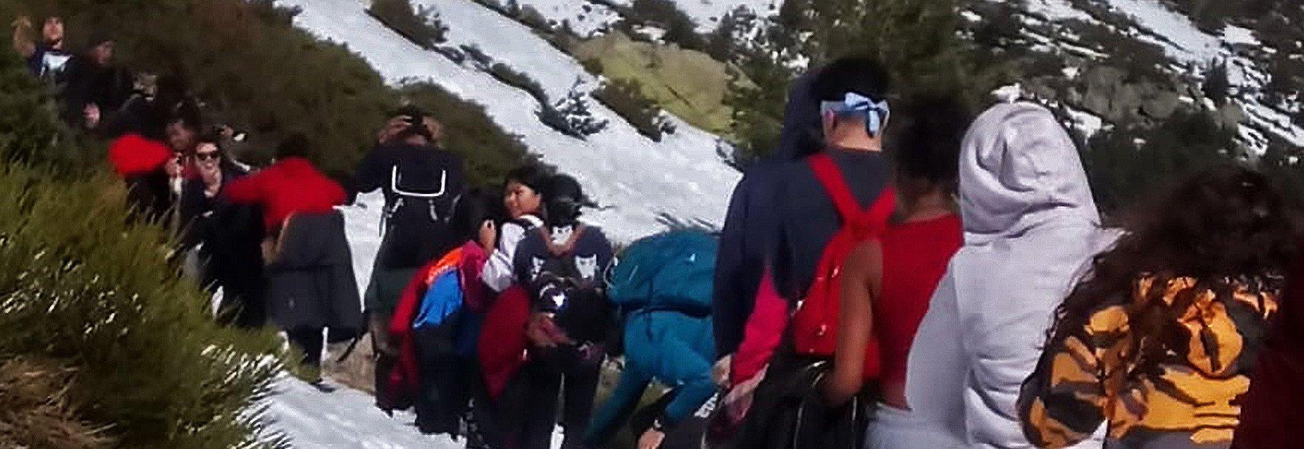 Excursión de adolescentes del CEPI de Tetuán a Peñalara