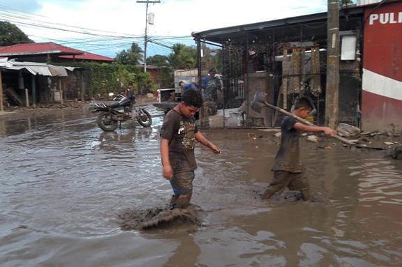 zonas inundadas por los huracanes
