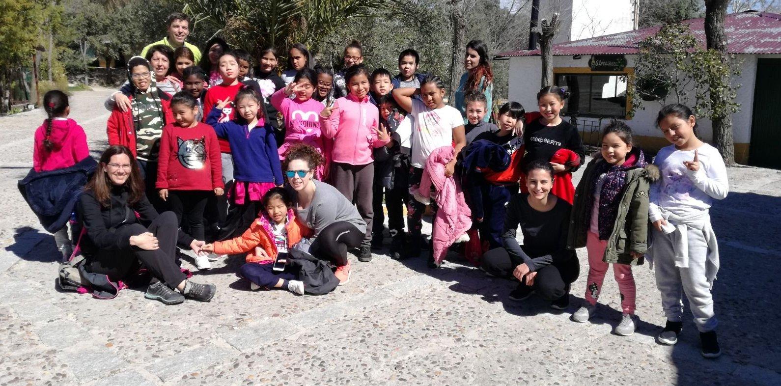 Los niños del CEPI de Tetuán en la excursión