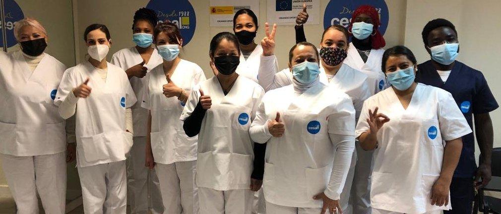 Formación en limpieza en Madrid con la ONG CESAL