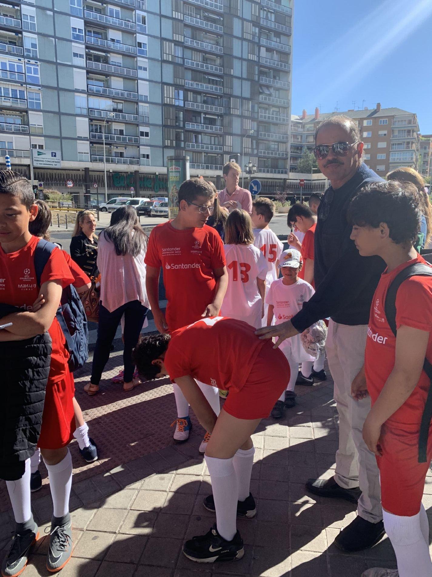 UEFA nños fúbol CESAL refugiados