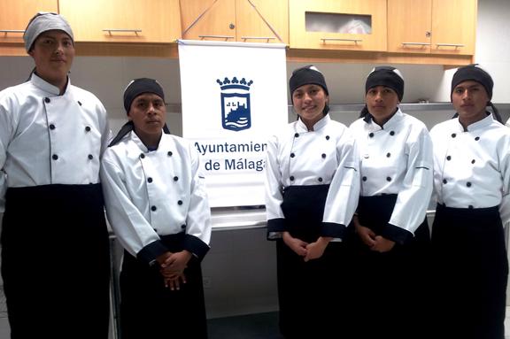 Jóvenes formación cocina Ecuador