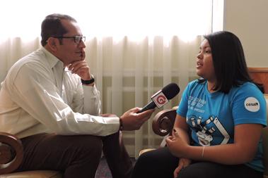 entrevista a una joven participante en el proyecto