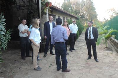 Visita Ministro justicia CESAL Paraguay