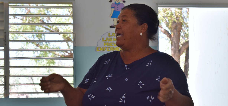 Bertha, comunitaria de Cardón