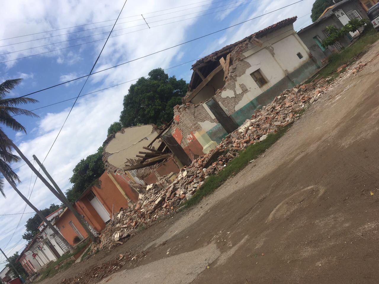 Casas destruidas terremoto méxico