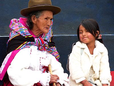Mujer campesina de una de las comunidades beneficiadas
