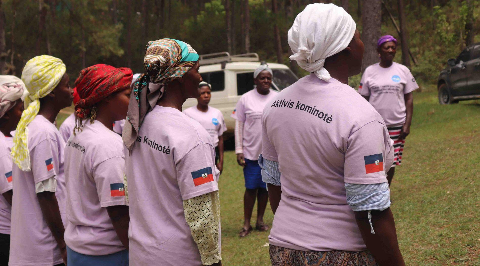 Las mujeres se activan en Haití