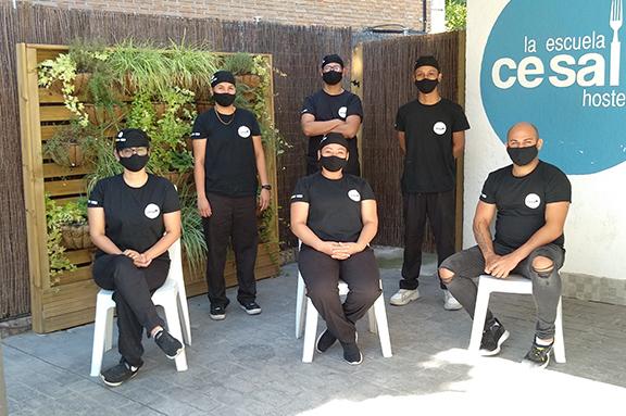 Curso de formación en hostelería para personas refugiadas en Madrid