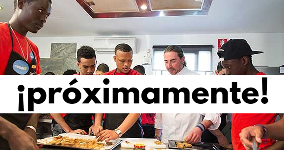 Cocina en familia, cocina en equipo - showcooking con nuestros jóvenes formados